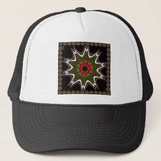 Kenya Coffee brown bordered design Trucker Hat