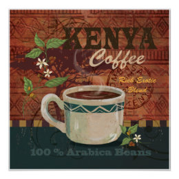 Kenya Coffee Poster