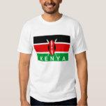 kenya country flag symbol name text t shirt