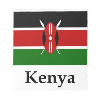 Kenya Flag And Name Memo Note Pad