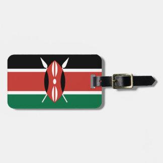 Kenya Flag Bag Tag