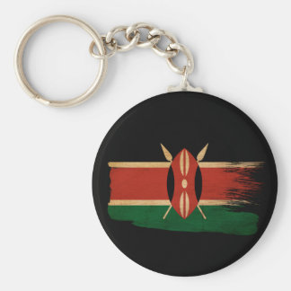 Kenya Flag Basic Round Button Keychain