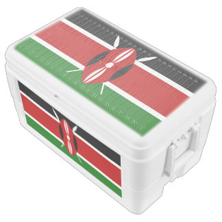 Kenya flag chest cooler