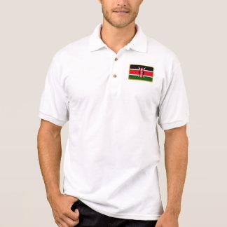 Kenya flag golf polo