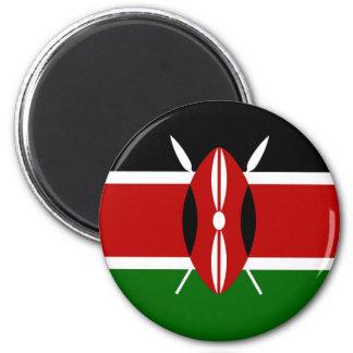 Kenya Flag Magnet Round