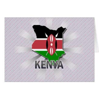 Kenya Flag Map 2.0 Card