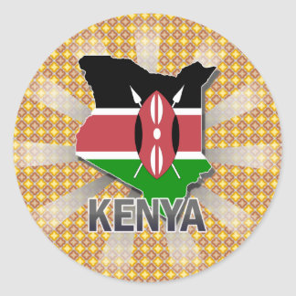 Kenya Flag Map 2.0 Sticker