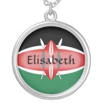Kenya Flag   Name Necklace