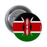 Kenya Flag Pinback Button