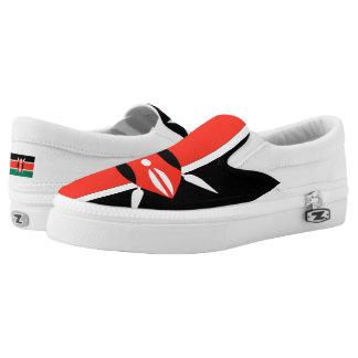 Kenya Flag -.png Slip-On Sneakers