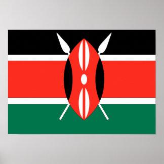 Kenya Flag Poster