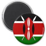 Kenya Flag Shirt 2 Inch Round Magnet
