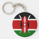 Kenya Flag Shirt Basic Round Button Keychain