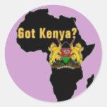 Kenya Flag T-Shirt  And Etc Classic Round Sticker