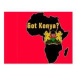 Kenya Flag T-Shirt  And Etc Post Cards