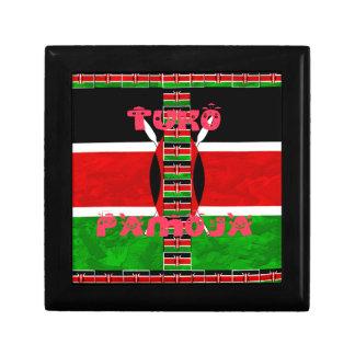Kenya Flag Tuko Pamoja Jewelry Box