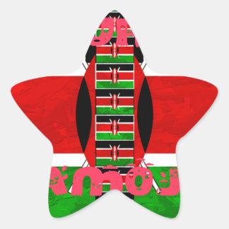 Kenya Flag Tuko Pamoja Star Sticker