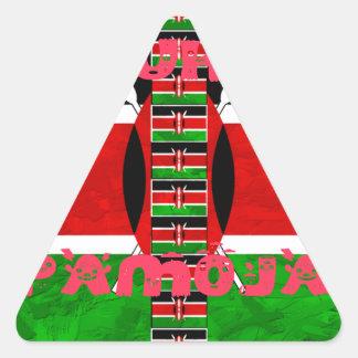 Kenya Flag Tuko Pamoja Triangle Sticker