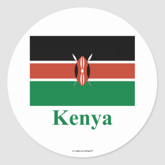 Kenya Flag with Name Classic Round Sticker
