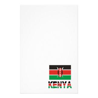 Kenya Flag & Word Customized Stationery