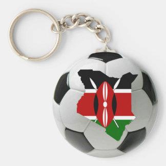 Kenya football soccer basic round button keychain