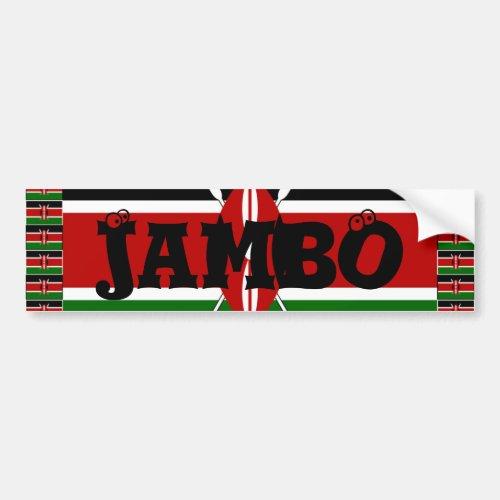 Kenya Hakuna Matata and I love Kenya Bumper Sticker