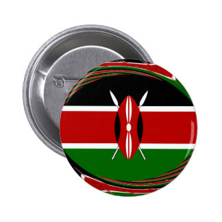 Kenya Hakuna Matata Black Red Green 2 Inch Round Button