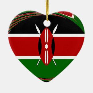 Kenya Hakuna Matata Black Red Green Ceramic Ornament