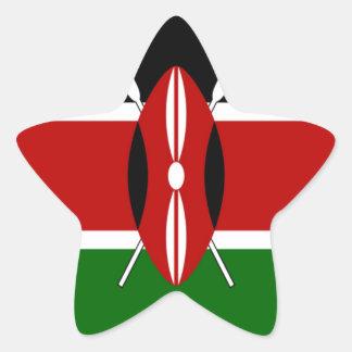Kenya Hakuna Matata Black Red Green Star Sticker