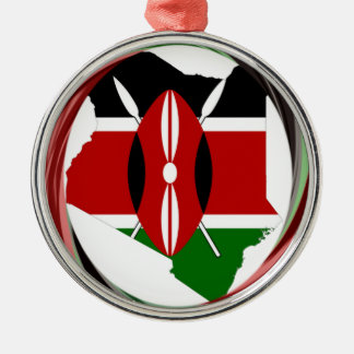 Kenya Hakuna Matata Round Metal Christmas Ornament
