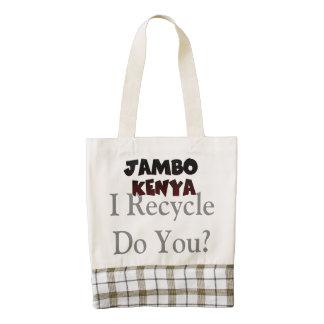 Kenya Hakuna Matata Reusable Zazzle HEART Tote Bag