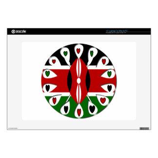 """Kenya Hearts 15"""" Laptop Skin"""