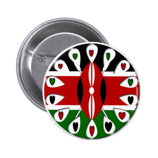 Kenya Hearts 2 Inch Round Button