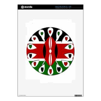 Kenya Hearts Decals For iPad 2