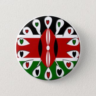 Kenya Hearts Pinback Button
