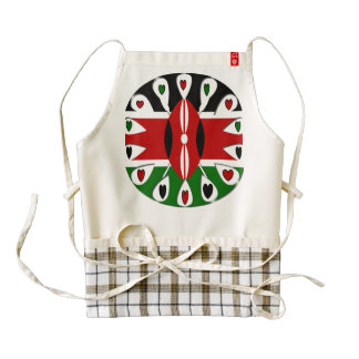 Kenya hearts ZAZZLE HEART APRON