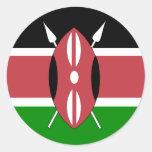 Kenya High quality Flag Classic Round Sticker