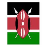 Kenya High quality Flag Postcard