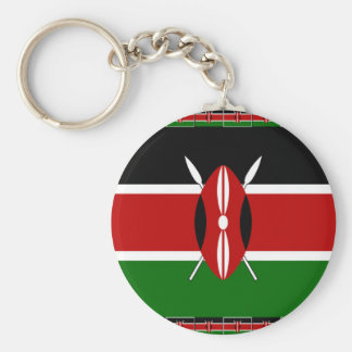 Kenya Kenyan Flags Basic Round Button Keychain