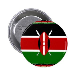 Kenya Kenyan Flags Pinback Button