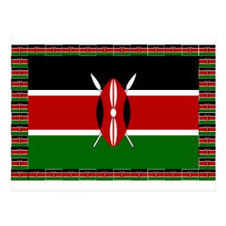 Kenya Kenyan Flags Postcard