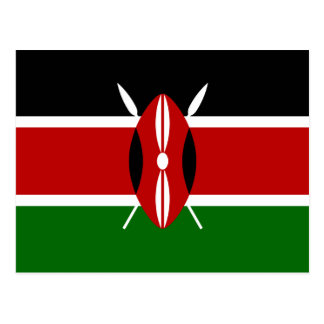 Kenya – Kenyan National Flag Postcard