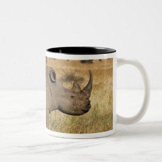 Kenya: Lewa Wildlife Conservancy, white Two-Tone Coffee Mug
