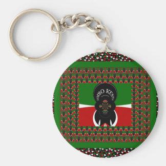 Kenya lovely heats basic round button keychain