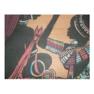 Kenya MaasaPostcard Vertical Template - Customized Postcard