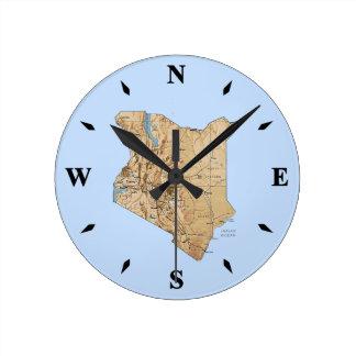 Kenya Map Clock