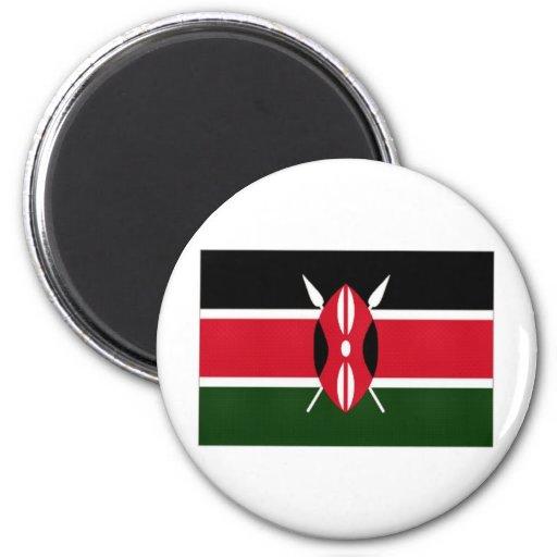 Kenya National Flag 2 Inch Round Magnet