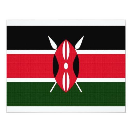 Kenya National Flag 4.25x5.5 Paper Invitation Card