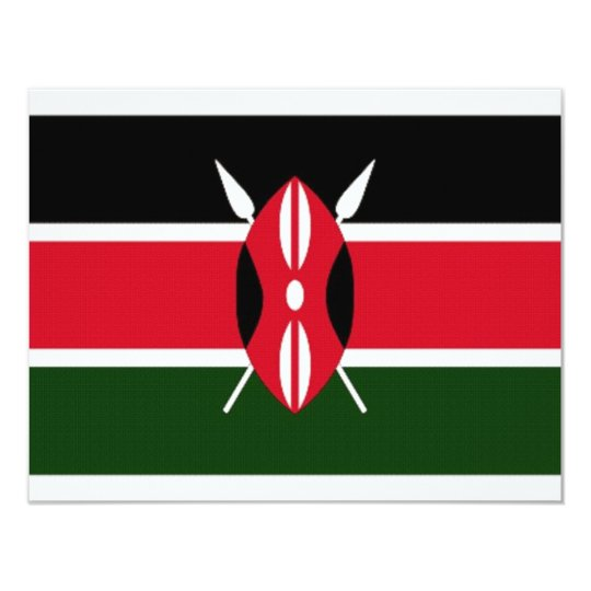 Kenya National Flag Card