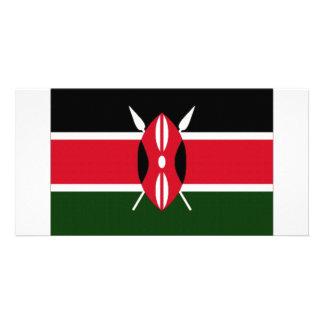 Kenya National Flag Personalized Photo Card